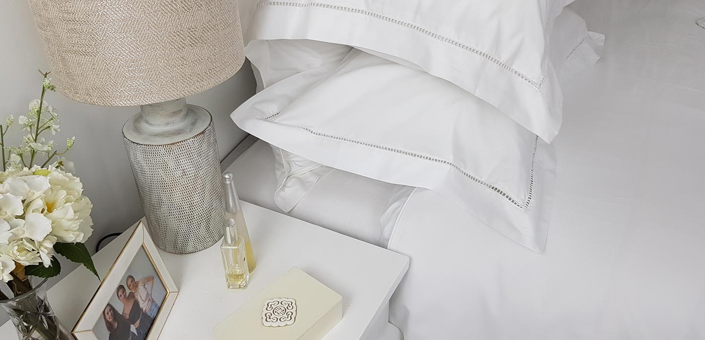 Ecodownunder's 'Hamilton Collection Ladder Stitch' bed set made from eco-cotton