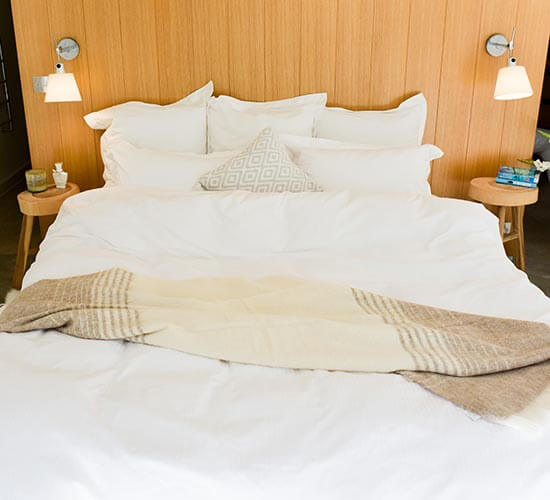 Flax linen bed set