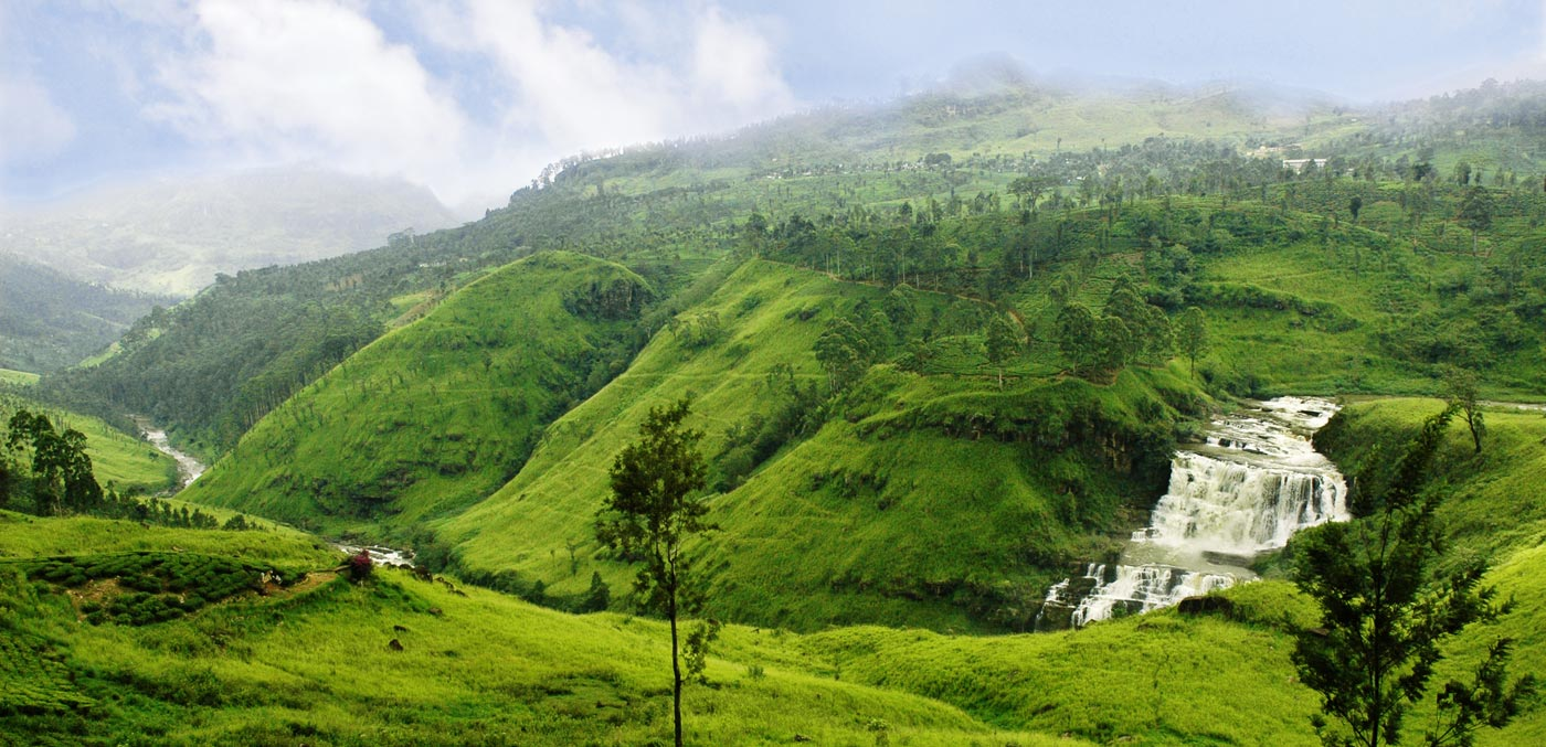 St Claires Waterfalls along Ski Lanka's Cultural Triangle