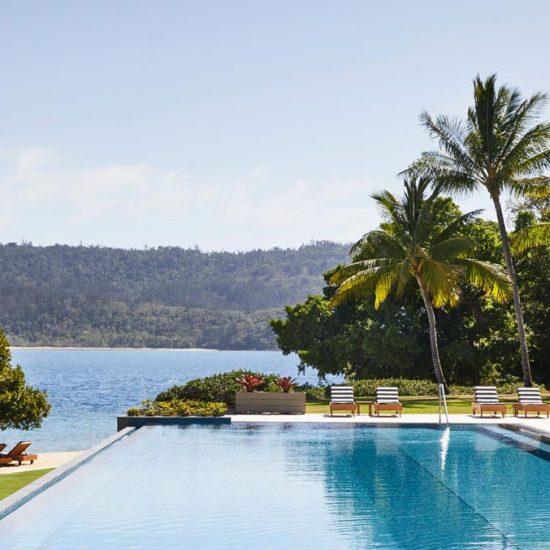 The pool at qualia