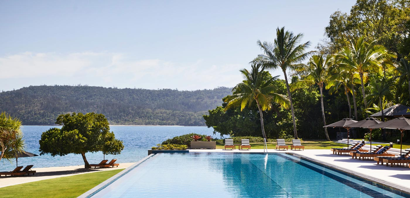 The pool at qualia