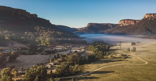 Aerial view of One&Only Wolgan Valley