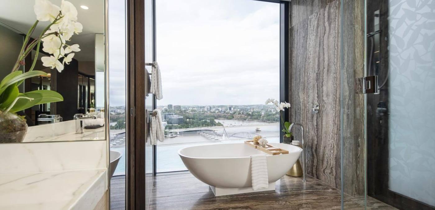 Brisbane Emporium Penthouse's master suite ensuite