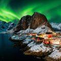 Hamnøy on a polar night