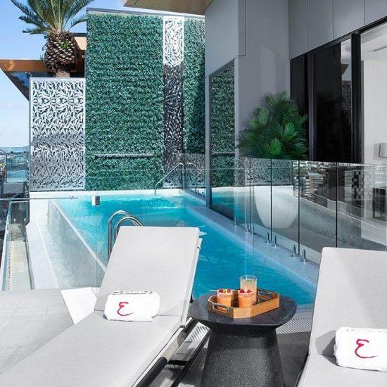 Private pool at the Brisbane Emporium Penthouse Suite
