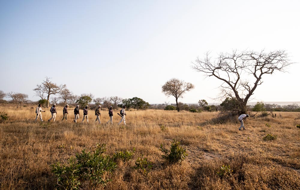 Students out on the field with Tracker Academy
