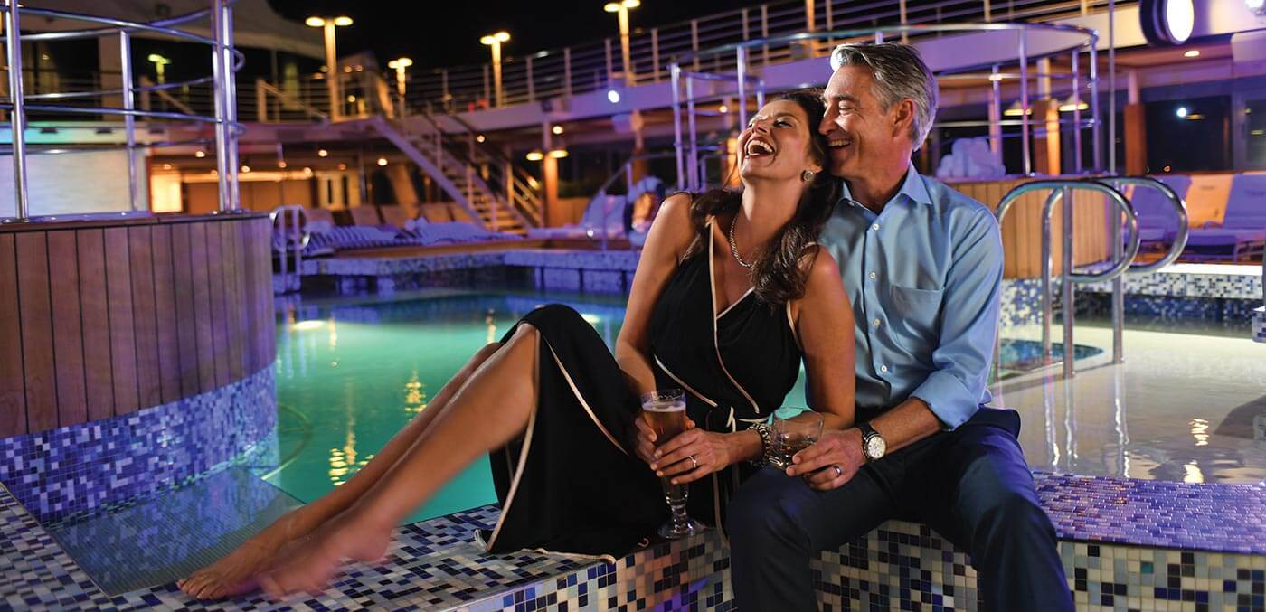 Fun on the pool deck of MS Insignia