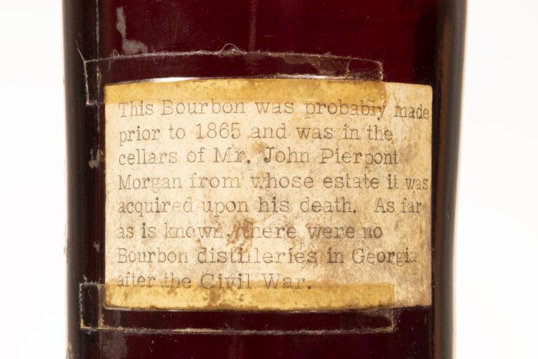World's oldest whisky bottle