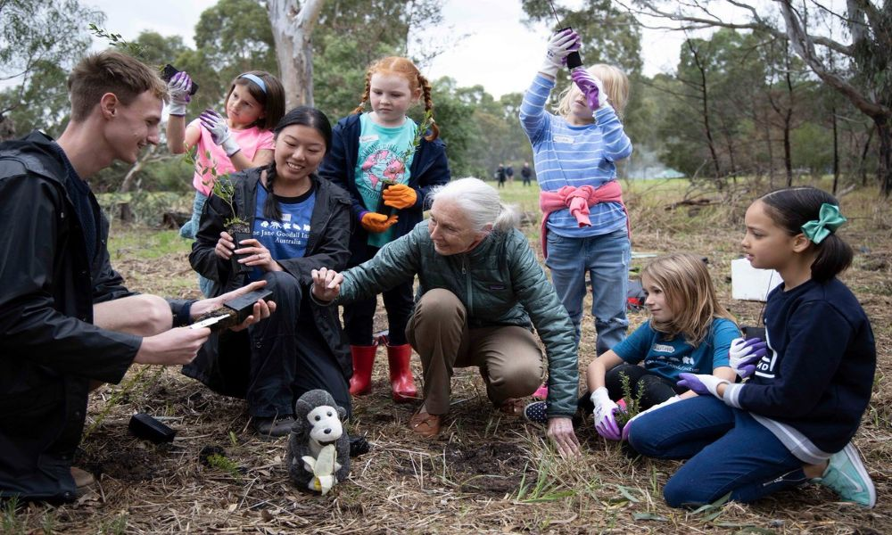 Goodall has shared her life's work with the younger generation