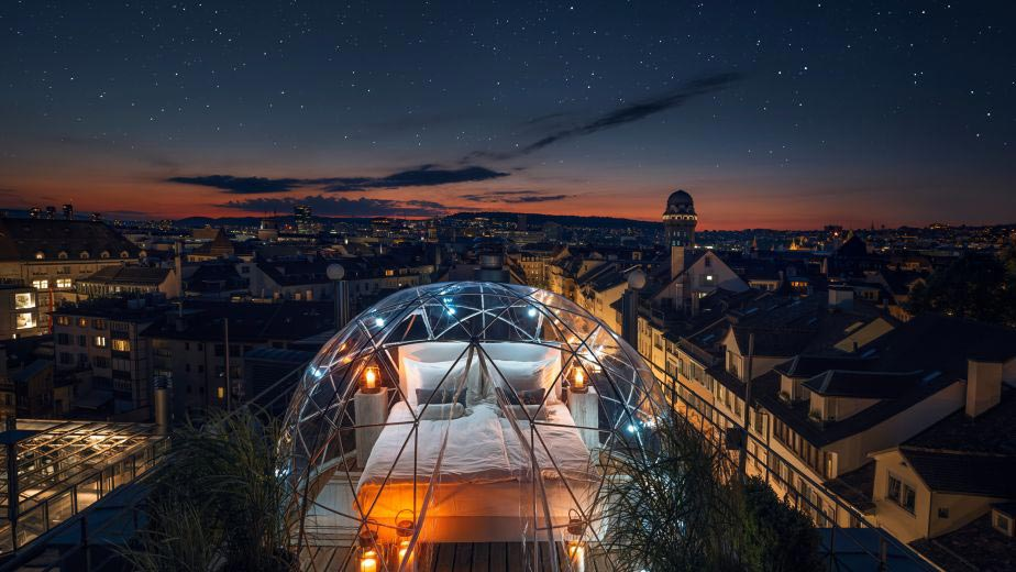 The Bubble Suite at the Widder Hotel, Zurich