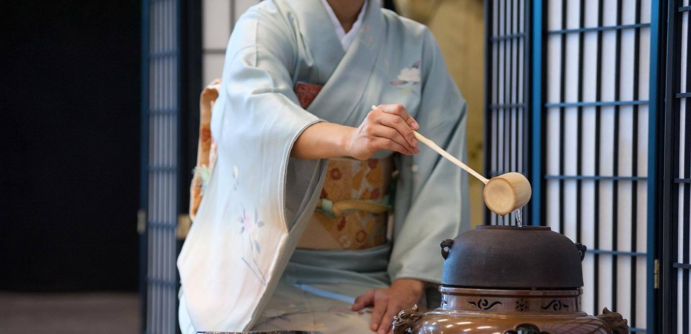 Preparing for a tea ceremony