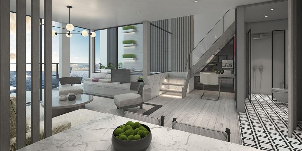 Celebrity Beyond two-storey villa © Celebrity Cruises