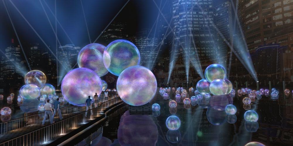 bubble installation at vivid sydney 2021