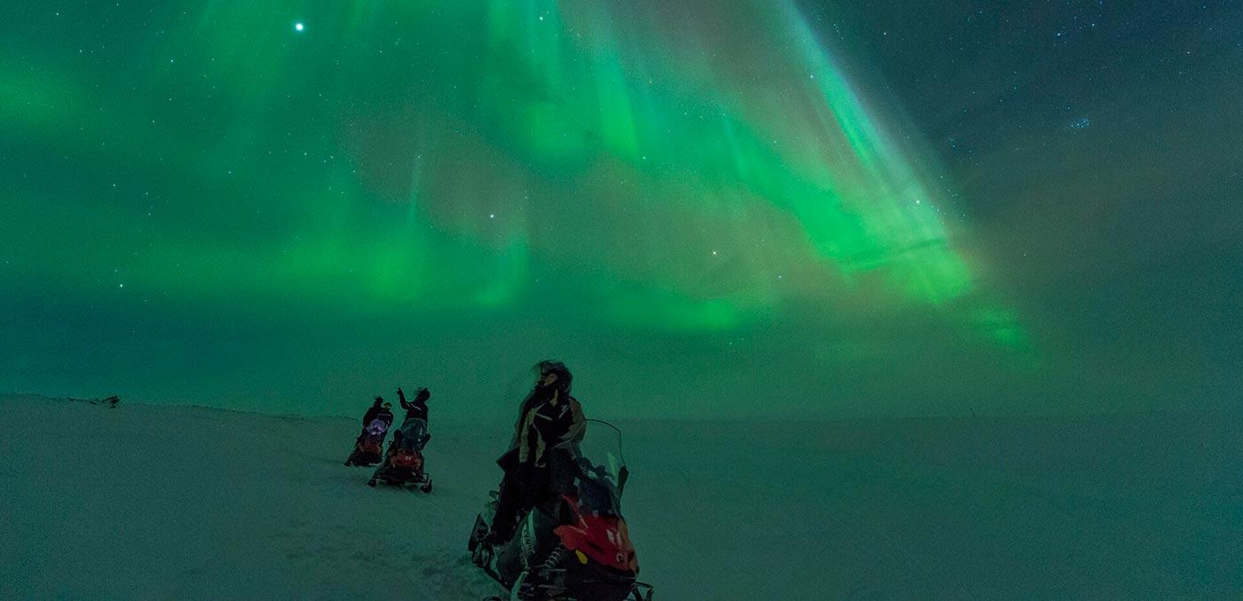 See the Northern Lights snowmobiling, Hurtigruten Northern Lights cruise