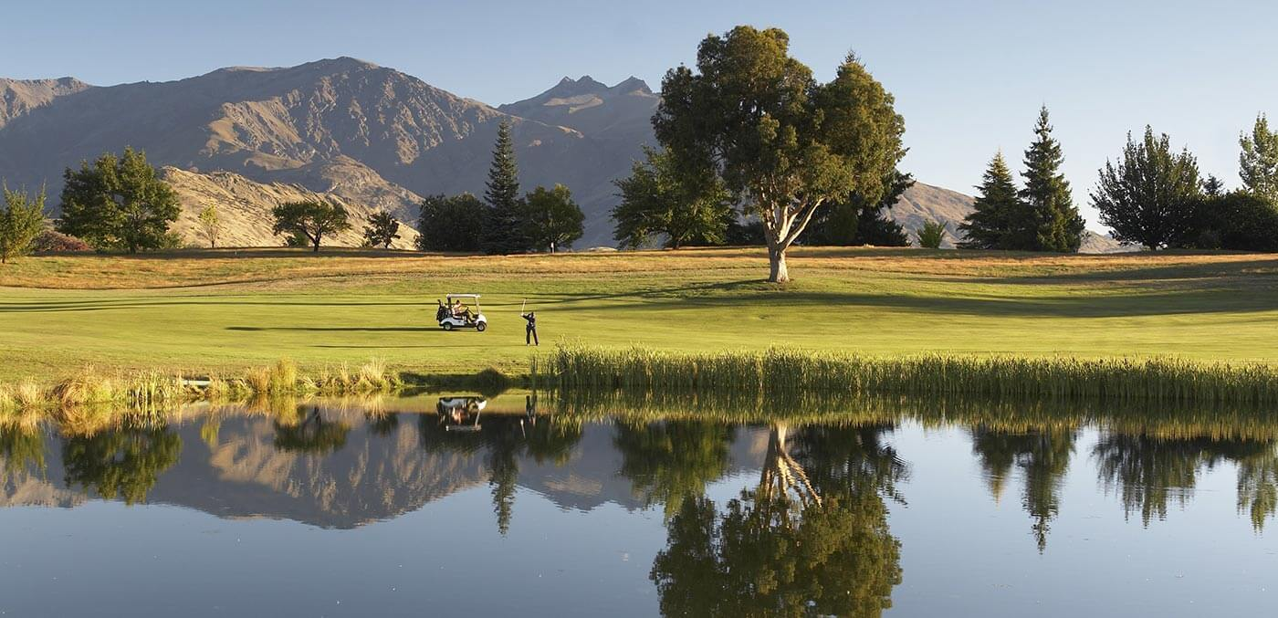 Queenstown golf Fond reflections of the course at Millbrook