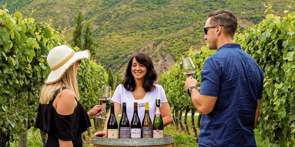 queenstown helicopter tours stops off at winery