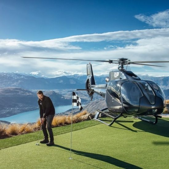 heli-golfing