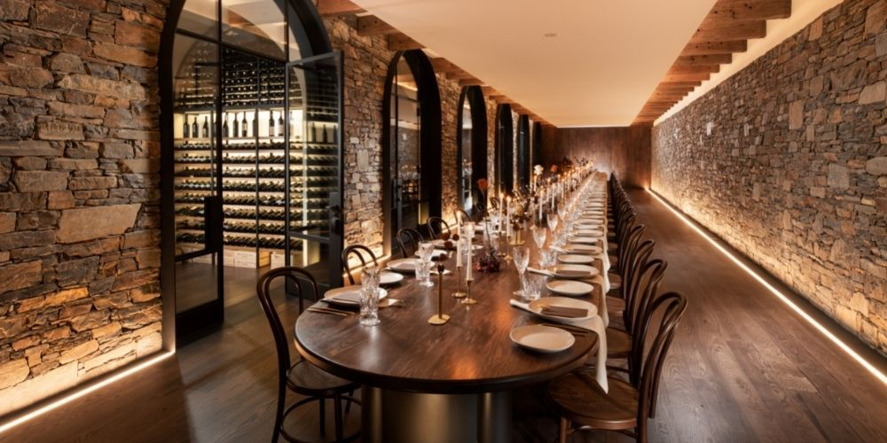 21-metre long private dining table