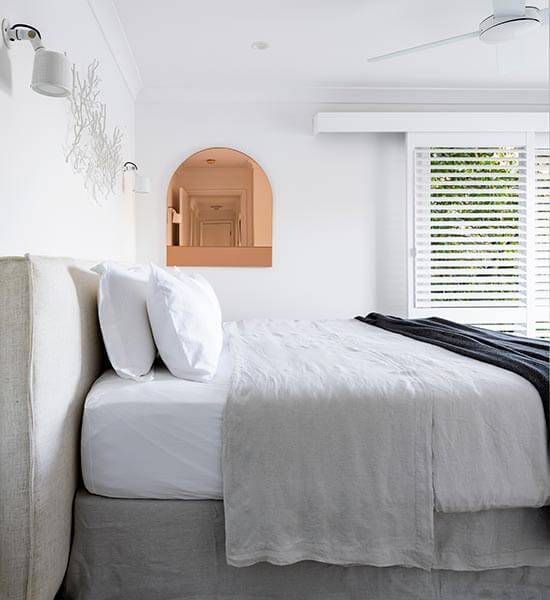 Bedroom details at Calabash Bay Lodge