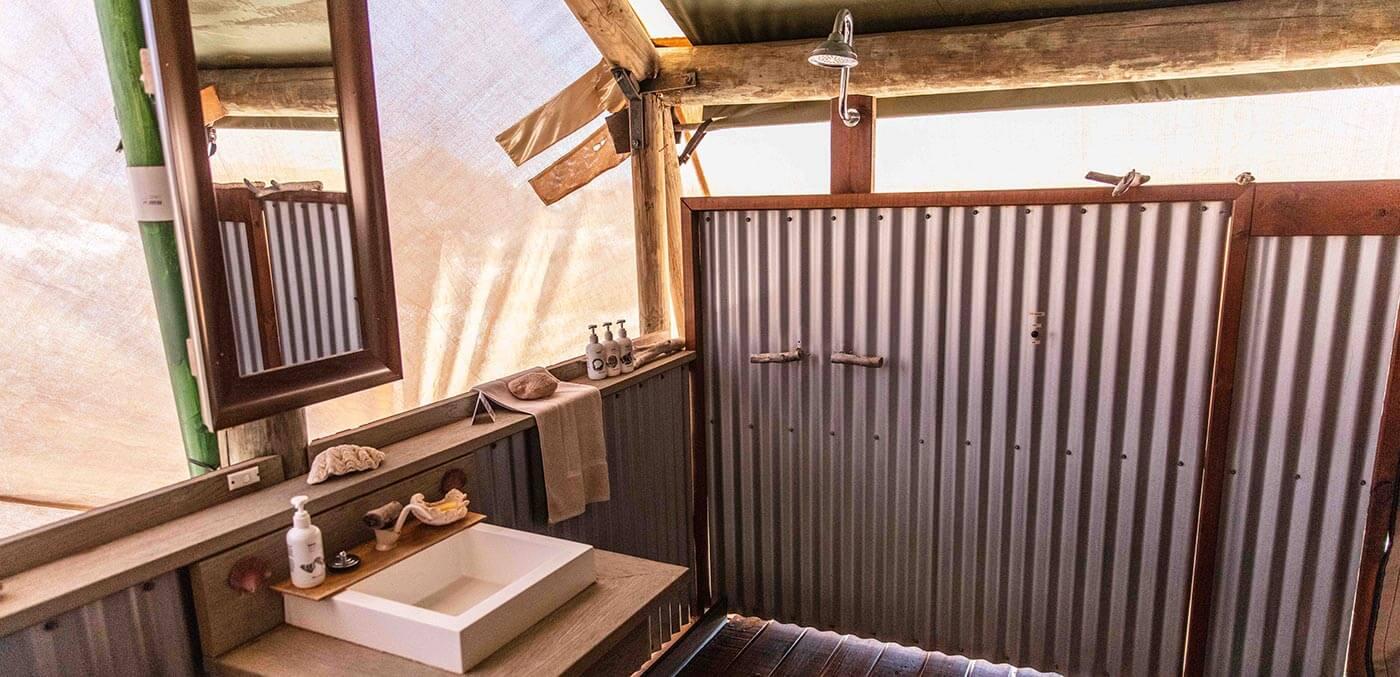 Bathroom at Sal Salis Ningaloo Reef