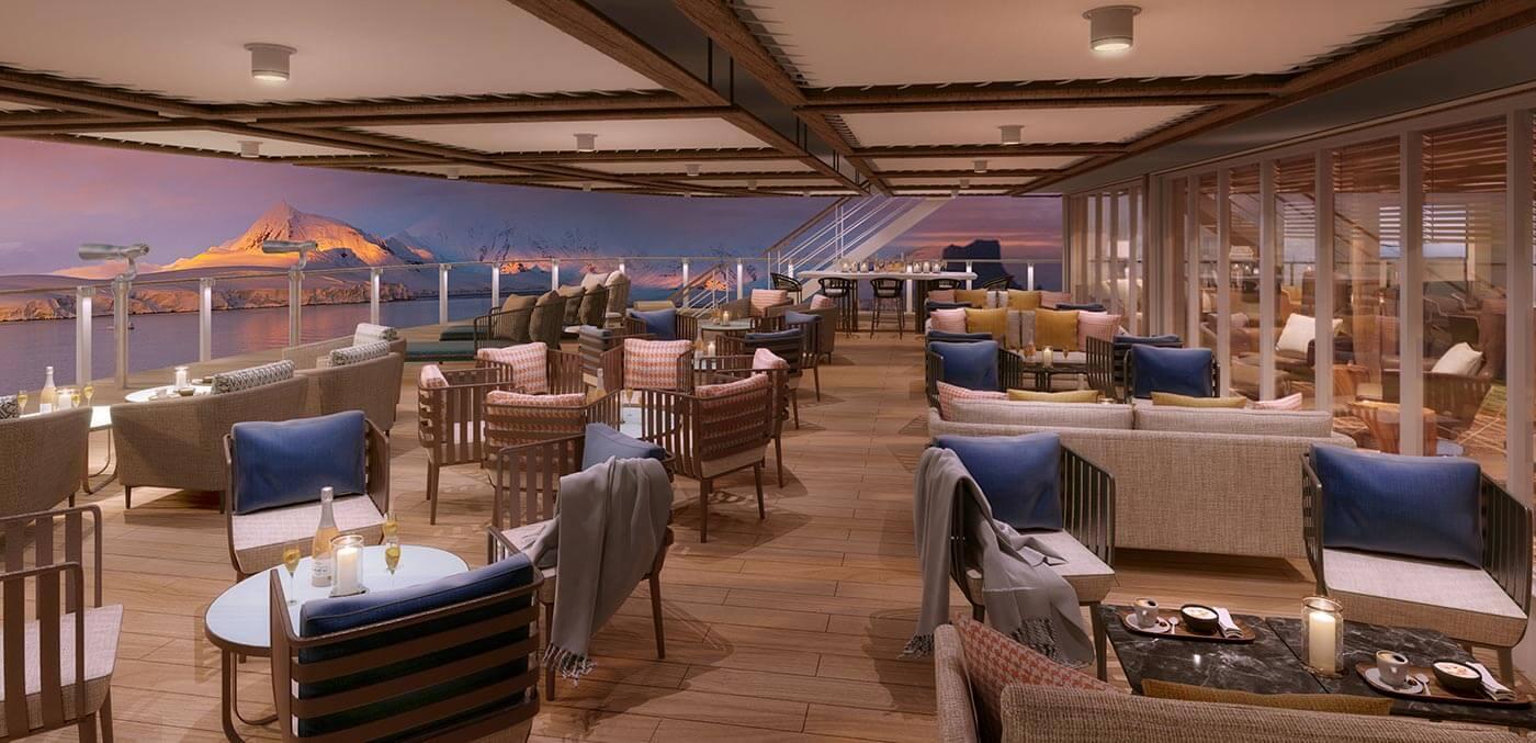 Seabourn Venture deck Seaborn expedition cruises