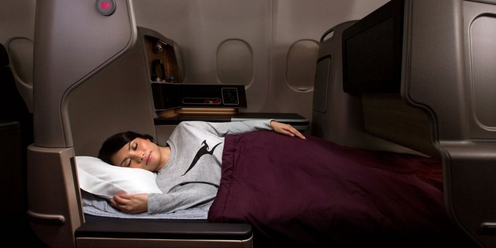 Qantas Sydney Vancouver flights Business class