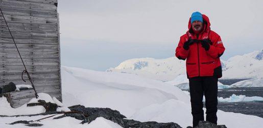 Andrew Daddo in Antarctica